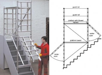 Stairdeck Stairway and Narrow Access Tower - 2.8m Platform ...