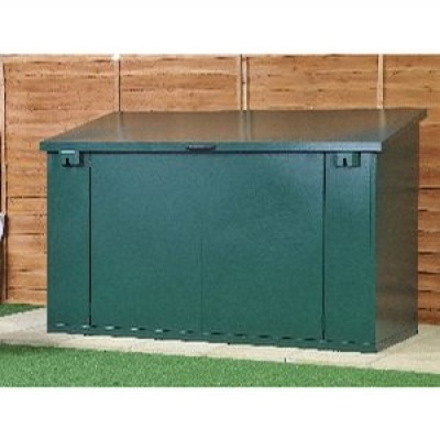 asgard green metal garden storage box with lift up lid product