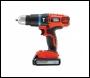 Black and Decker EGBL188K Li-Ion 2 Gear Hammer Drill 18 Volt + Kitbox