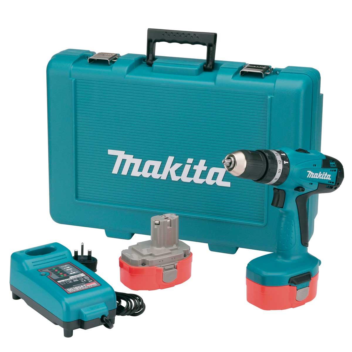 makita 8391dwpe 18v combi drill 2 x 1 3ah ni cad. Black Bedroom Furniture Sets. Home Design Ideas