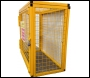SED Gas Bottle Storage Cage - 0.9m x 1.0m x 0.5m Gas Cage - c/w Highly Flammable Sign