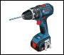 Bosch GSB 14.4 V-LI Dynamic Series 14.4v Cordless 2 Speed Combi Drills + 2 Lithium Ion Batteries 4.0ah + L Boxx