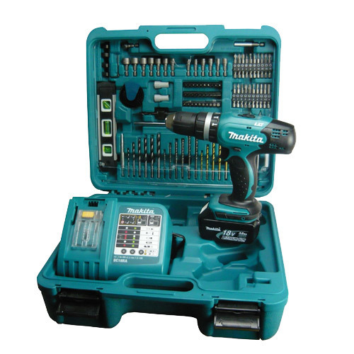 makita bhp453rftk lxt 18v li ion combi drill 1 x 3ah battery in case with 101 piece accessory. Black Bedroom Furniture Sets. Home Design Ideas