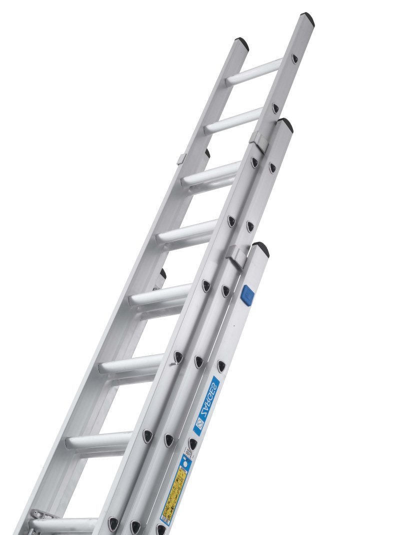 3 Section Extension Ladder : Zarges part class industrial extension ladder