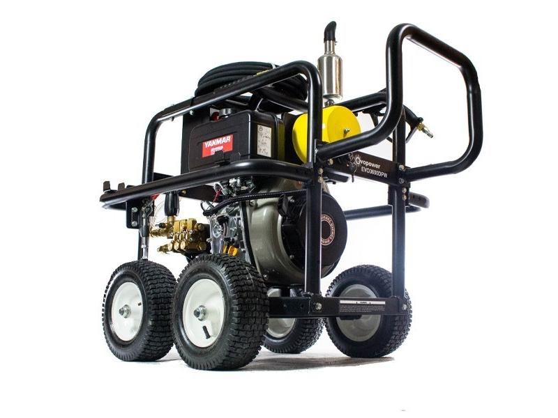 Evopower PRO 3600psi Electric Start Yanmar L100 Diesel Pressure Washer  EVO3600DPW-HAZ
