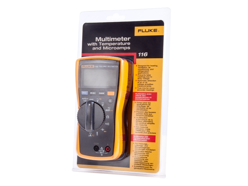 Fluke 116 HVAC Multimeter with Temperature and Microamps (2583601)