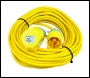 14 Metre x 2.5mm Extension Lead / Cable with 110 Volt 16 Amp Plug & Socket
