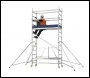 Zarges Reachmaster Mobile Scaffold Tower - 4.5 Metre Working Height - 2.5 Metre Platform Height - Stabilisers Included - Code: 5600104
