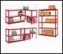 Clarke CS5265RP Quick Assembly Boltless Racking With Laminate Board Shelves – Red