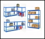 Clarke CS5265BL Quick Assembly Boltless Racking With Laminate Board Shelves – Blue