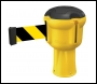 Skipper Retractable Barrier Tape Holder - with 9m Tape Skipper - Yellow
