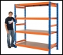 Clarke CS4600BO Heavy Duty Boltless Shelving 600kg (Blue & Orange)