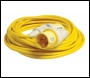 LUMER 25 Metre x 4mm Extension Lead / Cable with 110 Volt 32 Amp Plug & Socket - Code LM10175