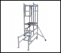 Lewis Trade Heavy Duty Aluminium Podium Steps 1 Metre Platform Height with Detachable Ladder