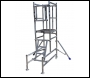 Lewis Trade Heavy Duty Aluminium Podium Steps 1.25 Metre Platform Height with Detachable Ladder