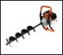 P1PE P5200EA 52cc Petrol Earth Auger Easy Recoil Start c/w 100mm, 150mm + 200mm Drills