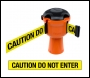 Skipper Retractable Barrier Tape Holder - with 9m Tape - Caution Do Not Enter