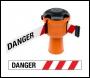 Skipper Retractable Barrier Tape Holder - with 9m Tape - Danger