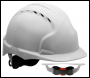 JSP EVO®3 AJF170-000-100 Revolution® Wheel Ratchet - White - Vented Safety Helmet