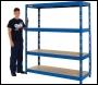 Clarke 350kg Boltless shelving (Blue) CSM4350S/60BL  (Ref: 6600770)