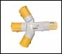 LUMER 3 Way Socket Adaptor 110v 16amp – Code LM07330