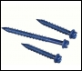 6.3 x 125mm Masonry Screws with Slotted Hex Washer Head - Box of 100