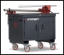 Armorgard Mobile TuffBench Fitted with Wooden Top, Chain Vice and Engineers Vice - Code BH1270M-VF